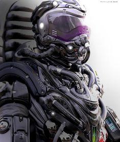 Welding the Punk into Cyberpunk Armor Concept, Concept Art, Tattoos Bras, Futuristic Armour, Futuristic Helmet, Arte Cyberpunk, Steampunk, Estilo Real, Sci Fi Armor