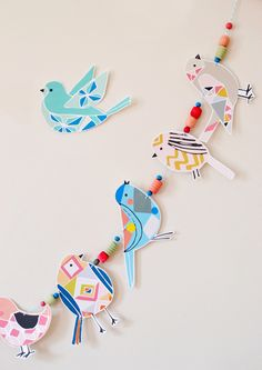 Preciosa decoración a base de pájaros.