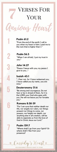 7 Verses For Your Anxious Heart - Scripture and Quotes - Goodsstr Encouragement, Prayer Verses, Verses For Peace, Prayer Board, Thing 1, Bible Scriptures, Uplifting Bible Verses, Scripture Quotes, Word Of God