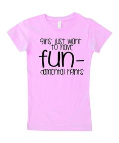 Light Pink 'Fun-damental' Fitted Tee - Infant, Toddler & Girls