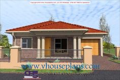Overall Dimensions- x 2 Car Garage Area- Square meters Tuscan House Plans, Family House Plans, House Plans South Africa, Building Costs, Square Meter, House Architecture, Car Garage, Bedrooms, Exterior