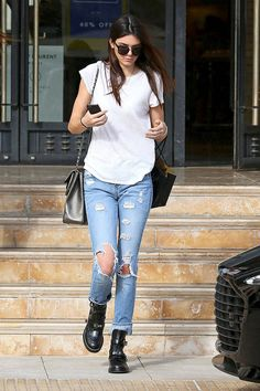 celebrity winter street style: Kendall Jenner