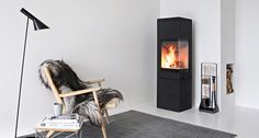 Nordpeis Quadro is a stove with a clean design that fits both straight wall, corner or free standing in the room. Clean Design, Nice View, New Homes, Home Appliances, Wood, Tuli, House, Stoves, Home Decor