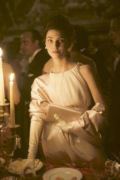 Benedetta Barzini modelling a cocktail dress