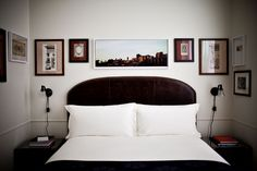Loving the pictures framing the bed at Jacques Garcia's latest NY hotel, NoMad