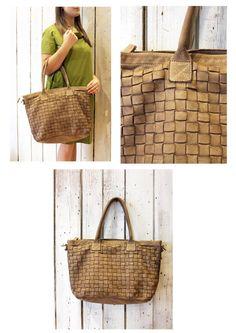 """Handmade woven leather bag """"INTRECCIATO 55"""" di LaSellerieLimited su Etsy"""