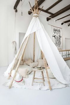 waiting tipi for our clients. light white wooden tipi of Sukha Amsterdam. Interior And Exterior, Interior Design, Interior Styling, Interior Decorating, Decorating Ideas, Interior Shop, Design Interiors, Home And Deco, Kid Spaces