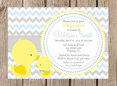 Ducks Baby Shower Invitation Printable Boy by VividLaneDesigns, $13.00