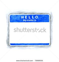 All my aquarelle drawings http://www.shutterstock.com/sets/16601-watercolor-painting.html?rid=498844 — Blue blank HELLO my name is tag sticker with shadow on white background. Handmade watercolor technique  — Keywords: badge card clean clear communication conference delegate empty gray label nametag office paper register registration school seminar sketch speaker texture water watercolour — #Royalty #free #stock #photo #illustration for $0.28 per download