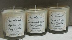 Fragrant Oil Scented Soy Candle   Two Ounce    Scented