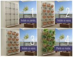 Módulo Jardim Vertical 43x43cm