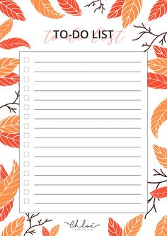 To Do Liste à imprimer spécial automne // printable to do list Study Planner, Planner Pages, Weekly Planner, To Do Lists Printable, Printable Planner, Christmas Invitations, Good Notes, Bullet Journal Ideas Pages, Planner Organization