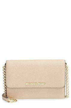 682096e2b4f9 MICHAEL Michael Kors  Jet Set - Large Phone  Saffiano Leather Crossbody Bag  available at