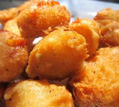 Deep Fried Cheese Curds.  The ultimate in decadence.  I could eat these by the vat.