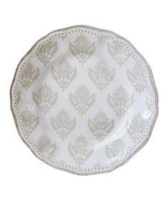 White Cambria Salad Plate by Le Cadeaux