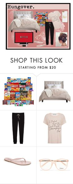 """Hungover"" by melissa-clark-2 ❤ liked on Polyvore featuring Wildfox, Tkees, Chloé and BaubleBar"