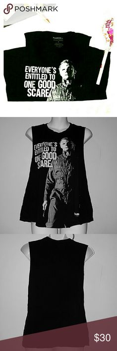 Halloween II T-shirt Tank Collectors Halloween II 'Everyone's entitled to one good scare' t-shirt tank. No rips or stains, worn only couple of times. Tops Tank Tops