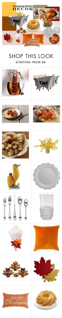 """""""Thanksgiving Table"""" by garadina on Polyvore featuring interior, interiors, interior design, home, home decor, interior decorating, Lenox, Kartell, C & F and Homewear"""