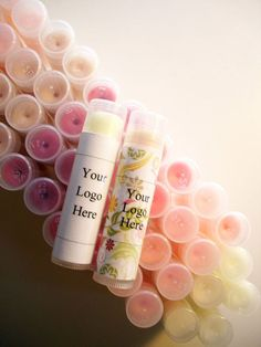 50 Count Custom Lip Balm includes vegan options - Great for Party, Shower and Wedding Favors & Promotional Items on Etsy, $64.00