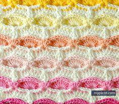 1000 Images About Crochet Stitch Shells On Pinterest