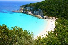 Voutoumi beach in Antipaxos island, Greece