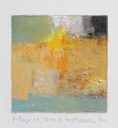 May 11 2017 Original Abstract Oil Painting 9x9 painting