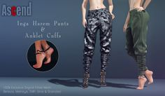 https://flic.kr/p/GjLA8p | //Ascend// Inga Harem Pants & Anklet Cuffs | Ascend @ Shiny Shabby April Round!!   NEW Exclusive Release! Ascend's // Inga Harem Pants & Inga Anklet Cuffs..   10 Textures/Colors to choose for Pants 6 Colors For Anklet Cuffs [Hud included in Pack]   Compatible Mesh Bodies :  Maitreya , Slink , Belleza , TMP & Standard Fitted mesh Included   25% Discount on FATPACK ...   Happy Shopping!!!    Here's your Texi to Event :  maps.secondlife.com/secondlife/Shiny%20...