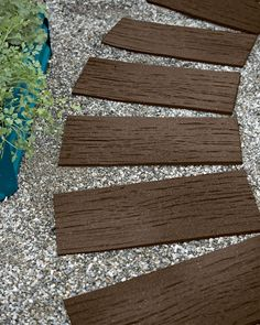 Design a unique pathway, patio or landscape accent with our recycled rubber stepping stones. The shape and texture mimics real railroad ties. Landscaping With Rocks, Front Yard Landscaping, Landscaping Ideas, Backyard Ideas, Patio Ideas, Garden Ideas, Outdoor Ideas, Outdoor Stuff, Outdoor Landscaping