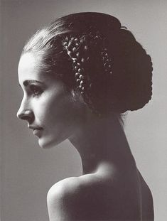 Astrid Schiller's coiffure is by Alexandre of Paris, photo by F.C. Gundlach…