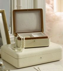 From the Ralph Lauren Mother's Day Gift shop: The beautiful Delmere Jewelry Box is an essential piece for storing keepsakes.