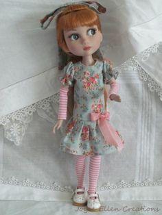 """Patience Tonner 14"""" BJD Fashion by JEC Blue Pink Dress Set OOAK   eBay"""