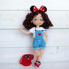 Made by Zefirka crochet Yarn Dolls, Knitted Dolls, Felt Dolls, Crochet Dolls, Sewing Doll Clothes, Crochet Doll Clothes, Sewing Dolls, Pretty Dolls, Beautiful Dolls