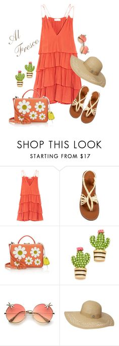 """""""Al Fresco Dining"""" by dogzprinted ❤ liked on Polyvore featuring Apiece Apart, Mark Cross, Kate Spade, Dorothy Perkins and alfrescodining"""
