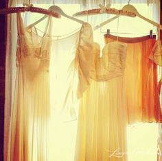 Dresses instead of curtains...