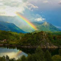Evening Rainbow by Helge Brandal - Pixdaus