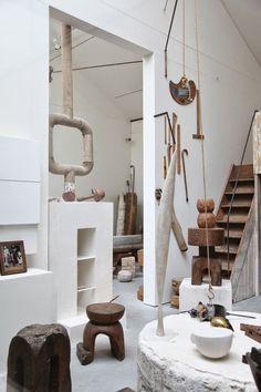 CONSTANTIN BRANCUSI, Atelier Brancusi, Place George Pompidou, Paris. / Pinterest