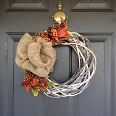 Simple and budget-friendly fall wreath DIY