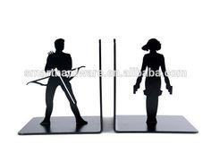 Laser cut iron bookends Decorative Black Widow & Hawkeye bookends