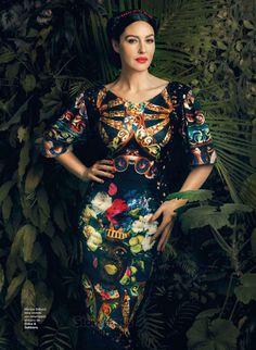 Monica Bellucci in Harper's Bazaar, Spain, July 2013