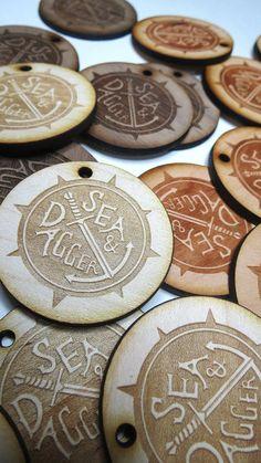 Custom Wood Tags, Custom Engraved Tags  by GrainDEEP