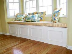 Bay Window Seat Cushion With Motif