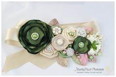 Bridal Sash / Country Wedding Belt in Hay by MarkadecorPremium, $128.00
