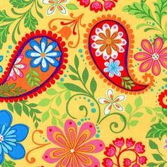 ...a whimsical Paisley design