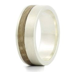 Kindle Silver And Wood Ring