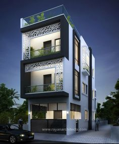66 Beautiful Modern House Designs Ideas - Tips to Choosing Modern House Plans ? 66 Beautiful Modern House Designs Ideas - Tips to Choosing Modern House 2 Storey House Design, Bungalow House Design, House Front Design, Small House Design, Narrow House Designs, Modern Exterior House Designs, Modern House Plans, Modern House Design, Building Elevation