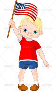 Fourth of July boy   #GraphicRiver         Illustration of Boy holding American flag     Created: 31May12 GraphicsFilesIncluded: JPGImage #VectorEPS Layered: No MinimumAdobeCSVersion: CS Tags: american #americanculture #americanflag #baby #blue #boy #cartoon #celebration #child #clipart #clip-art #cute #day #decoration #flag #fourthofjuly #illustrationandpainting #independence #littleboy #patriot #red #star #usa #vector #white