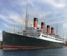 Aquitania, Cunard Line.