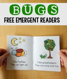 These free bug books for kids are great for beginning readers!