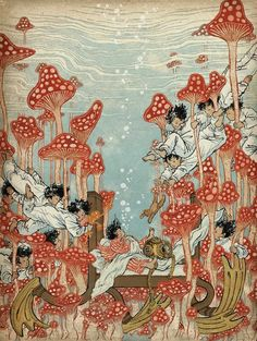 "Little Nemo Tribute Book ""Dream Another Dream"" with illustration by Yuko Shimizu. Published by Locust Moon Press Art Inspo, Kunst Inspo, Inspiration Art, Art And Illustration, Japanese Illustration, Comic Kunst, Comic Art, Fantasy Kunst, Fantasy Art"