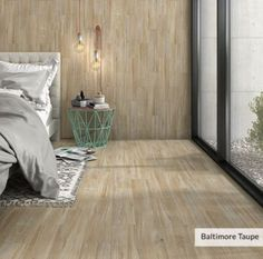 Baltimore Taupe Wood Look Wall and Floor Tile - 6 x 24 in.
